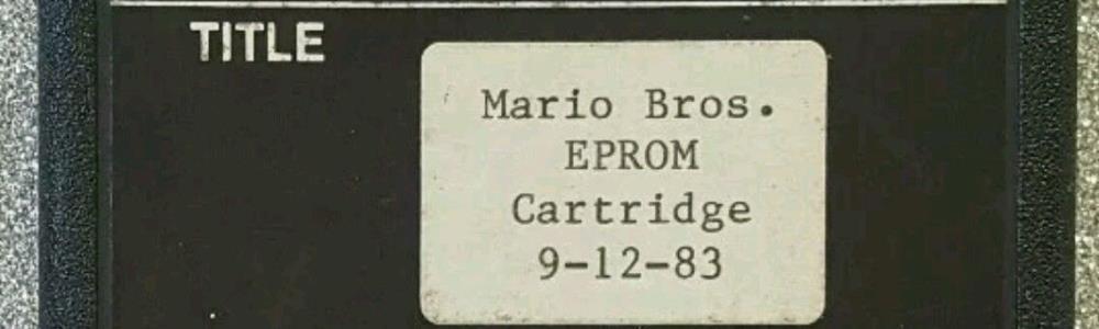 Mario Bros. Atari 2600 Prototype Surfaces
