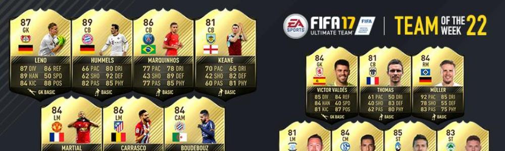 FIFA Ultimate Team Team of the Week (TOTW) – February 15th 2017